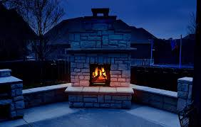 heat up the night with an outdoor fireplace