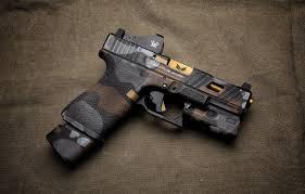 wallpaper style gun background glock