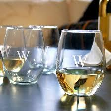 21 oz stemless white wine glasses gift set