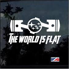 Subaru The World Is Flat Window Decal Sticker Custom Sticker Shop