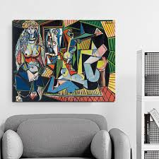 Women Of Algiers Pablo Picasso Wall Art Canvas Painting Posters Prints Modern Painting Wall Pictures For Living Room Home Decor Painting Calligraphy Aliexpress