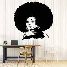 Amazon Com 22 X 22 In Afro Wall Art Decals Decor Afro American African Girl Hair Black Women Salon Stickers Afro Decorations Pictures Posters Motivational Inspirational Quotes Aa064 Home Kitchen
