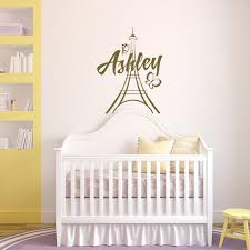 Personalized Girls Wall Decal Paris Theme Room Decor By Etsy