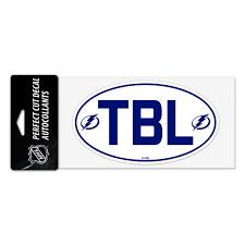 Tampa Bay Lightning 4x8 Tbl White Logo Decal Tampa Bay Sports