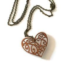 kowhaiwhai heart pendant crystal