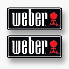 2x Weber Sticker Vinyl Decal Logo Grill Genesis Bbq Barbecue Igrill Charcoal Wish