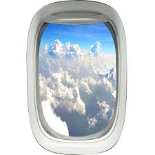 Airplane Window Decals Wall Decal Aerial View Clouds Mural Decor Pw18 Wall Decal