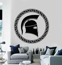 Vinyl Wall Decal Helmet Ancient Greek Warrior Spartan Art Stickers Mural G1170 Ebay