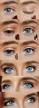 formal makeup for blue eyes cat eye