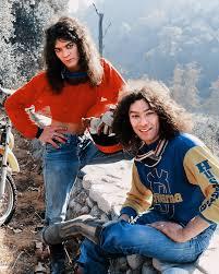Eddie and Alex Van Halen on a motorcycle trip. : vanhalen
