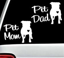 Pitbull Mom Decal Ebay