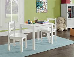 Hazel Kids 3 Piece Set Table And Chair White Walmart Com Walmart Com