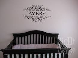 Custom Name Scrolls Baby Wall Decals Vinyl Art Stickers