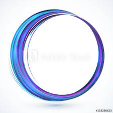 blue shining abstract vector circle
