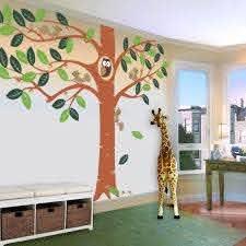 Giant Tree With Small Animals Nursery Kids Wall Decal Pinknbluebaby Com