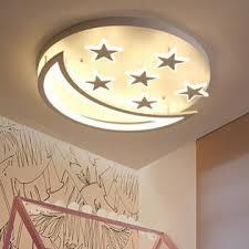 Baycheer Acrylic Star Moon Led Ceiling Light Fixture Kids Room Lamp Bedroom Light