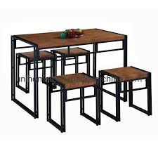 China Unihomes 5 Piece Dining Table For Small Spaces Kitchen Table Set For 4 Rustic Industrial Brown For Living Room Dining Room Set China Comedor Modern Dining Table