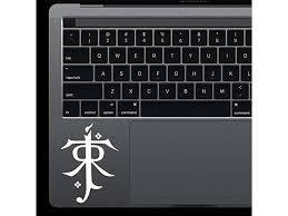 Lord Of Rings Jrrt Logo Tolkien Monogram Macbook Laptop Keyboard Trackpad Car Window Die Cut Vinyl Decal Sticker 2 3 X 3 2 White Newegg Com