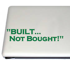 Built Not Bought Pc Gamer And Hot Rod Vinyl Decal Sticker For Car Laptop Tablets Etc