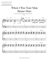 Partition gratuite pour piano de When I was your man Bruno Mars déclinée  sous deux ve… en 2020 | Partitions gratuites, Partition piano débutant,  Partition musicale gratuite