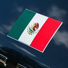 Amazon Com Mexico Flag Decals For Cars 3d Premium Quality Vinyl Mexico Flag Sticker For Truck 4 In Pack Big Mexican Flag Stickers 5 7 H 3 Inch Mexican Flag Car Decal