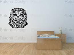 Star Wars Chewbacca Wall Art Big Mural Sticker Decal Etsy