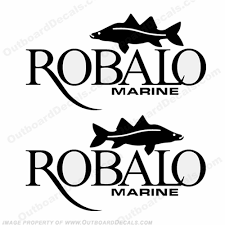 Robalo Boats Logo W Fish Decals Any Color