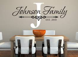 Amazon Com Family Name Wall Decal Custom Monogram Est Year Living Room Decor Home Kitchen