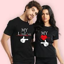 Buy Life Line Couple T Shirts Online India – Beyoung
