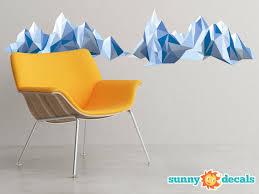 Geometric Mountain Fabric Wall Decal Modern Mountain Sunny Decals