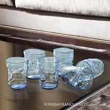 murano glass blue details modern