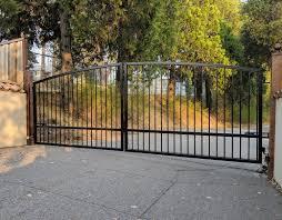 Driveway Gate Kit Wrought Iron Single Pickets Arched Etsy Wood Gates Driveway Wrought Iron Driveway Gates Driveway Gate