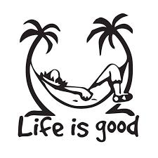 Life Is Good Text Vinyl Car Sticker Decal Art Car Quotes Stickers Window Decor Rear Windshield Funny Design Ta044 Car Stickers Aliexpress