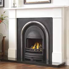 flat victorian limestone fireplace