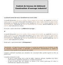 modèle de contrat de travaux d ouvrage
