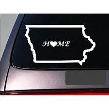 Iowa Home 6 Sticker E674 State Outline Home Map Decal Vinyl Walmart Com Walmart Com