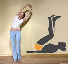 Abdominal Exercise Wall Sticker Tenstickers
