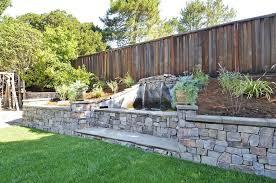 backyard landscaping retaining walls