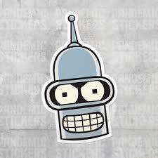 Futurama Bender Vinyl Decal Sticker Die Cut Full Color Fry Leela Funny Tv Ebay
