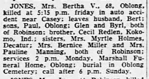 Bertha V Jones obituary - Newspapers.com