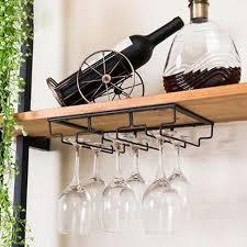 wine glass hanger rack metal kitchen