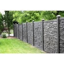 Simtek 6 Ft H X 6 Ft W Ecostone Dark Brown Composite Fence Panel Fp72x72edbr The Home Depot Backyard Fences Fence Design Fence Panels