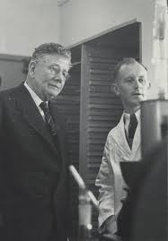 Opening of the Plant Chemistry Laboratory, Grasslands, 1946. 3. Ivan Turner  and Dan Sullivan   AgResearch