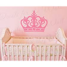 Amazon Com Princess Crown Wall Decal Vinyl Queen Castle Nursery Girl Room Playroom Sticker Art Large Decoration Sign Graphic Decor Mural Home Kitchen