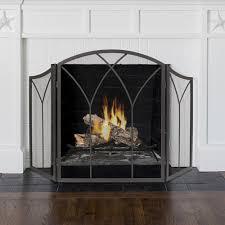 lansing tri fold fireplace screen at