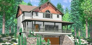 house plans walkout basement hillside