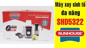 Máy xay sinh tố Sunhouse SHD5322 | Điện Máy Giang Nga - YouTube