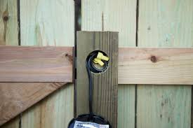 Diy Wood Privacy Fence With Accent Lighting Hammer Moxie