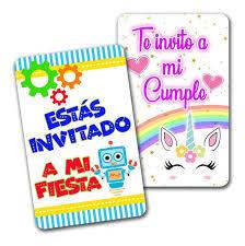 12 Invitaciones Cumpleanos Infantil Fiesta Baby Shower 15 00