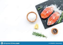 Fresh Salmon Steak With Spices ...